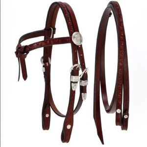 Horse tack, brow headstall